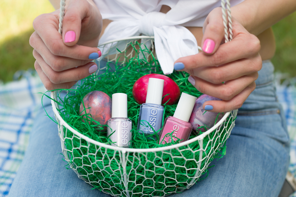 bunte Osternägel // multicolored Easter nails