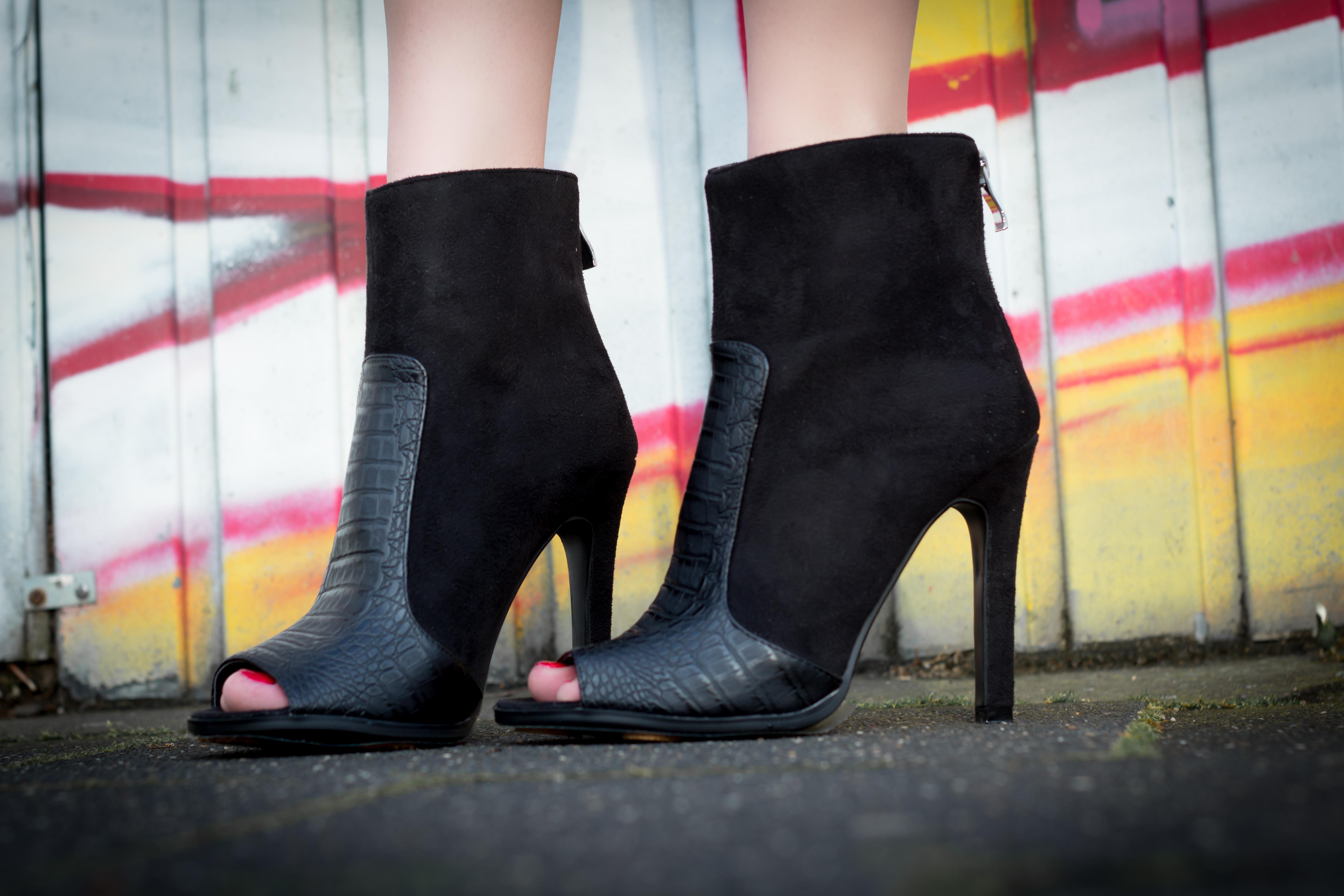 Peeptoe Ankle Boots <3