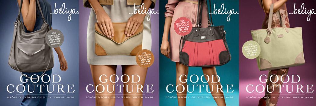 Die 4 Modelle der beliya Werbekampagne GOOD COUTURE.