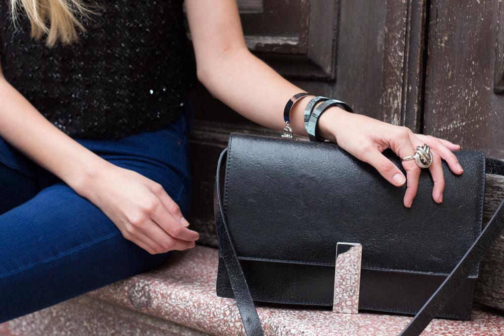details: bag by Zara, bracelet by TR Design
