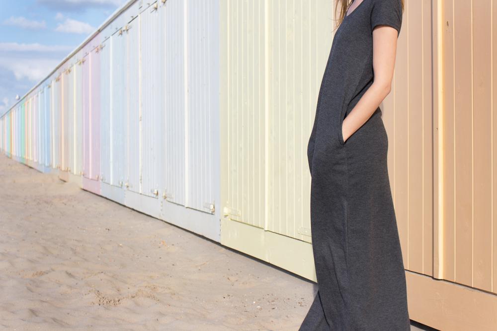 maxi dress & wind