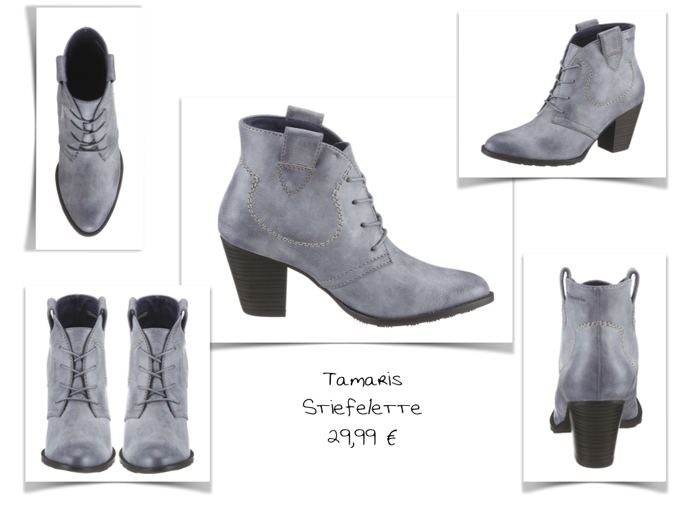 My choice: grey ankle boots by Tamaris