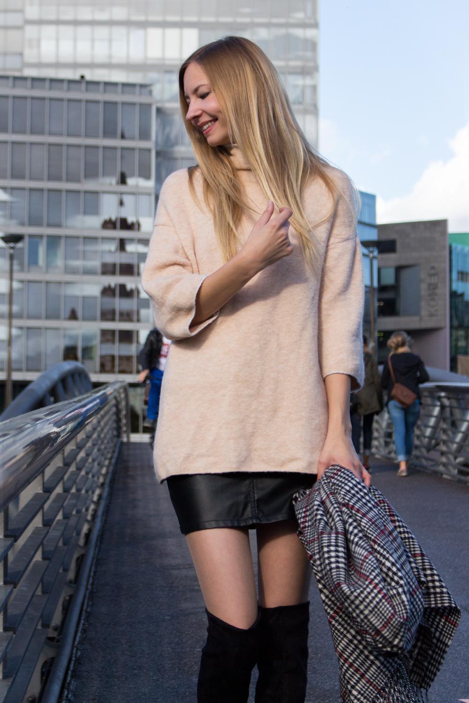oversized knit by Zara