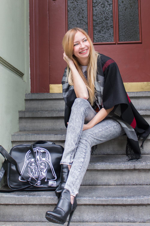 skinny jeans by Blend She, heels by Zara, bag by Logoshirt