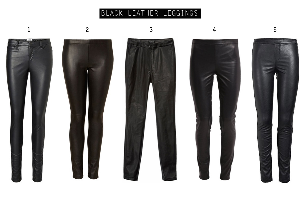 In love with... (faux) leather pants! black leather leggings by How I met my outfit