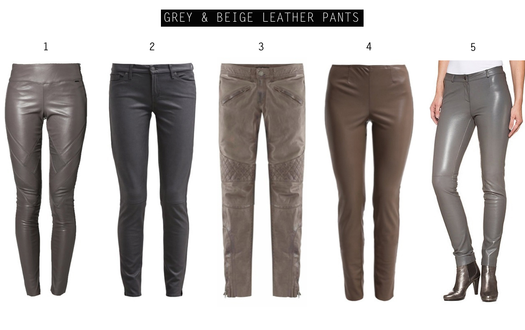 In love with... (faux) leather pants! grey and beige leather pants by How I met my outfit
