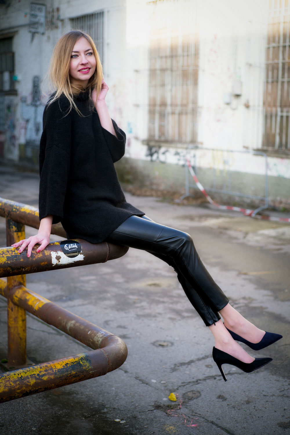 I've got my leather pants on today! by How I met my outfit II photos by: Cemal Sagnak