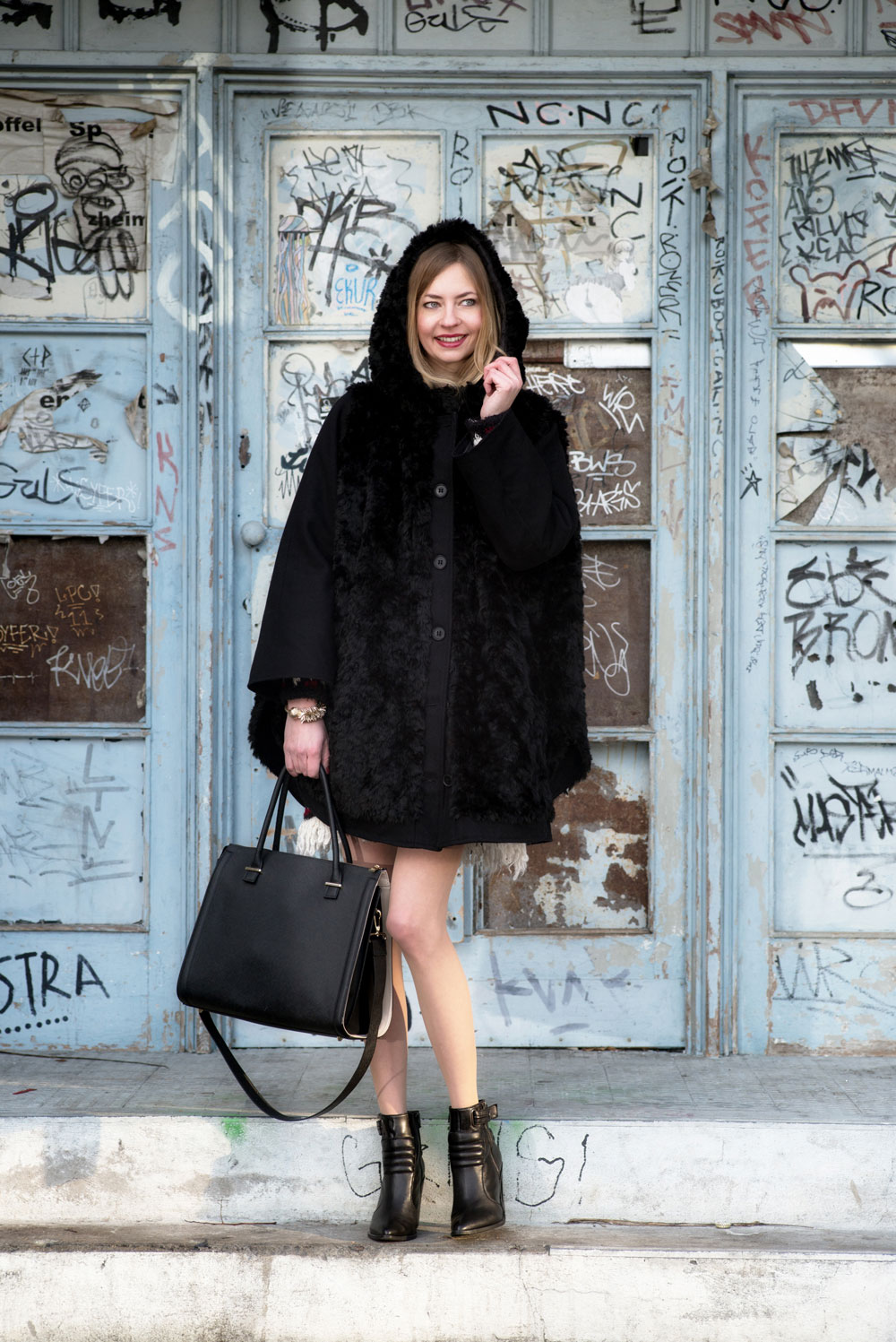 How I met my outfit - The big furry Yeti coat