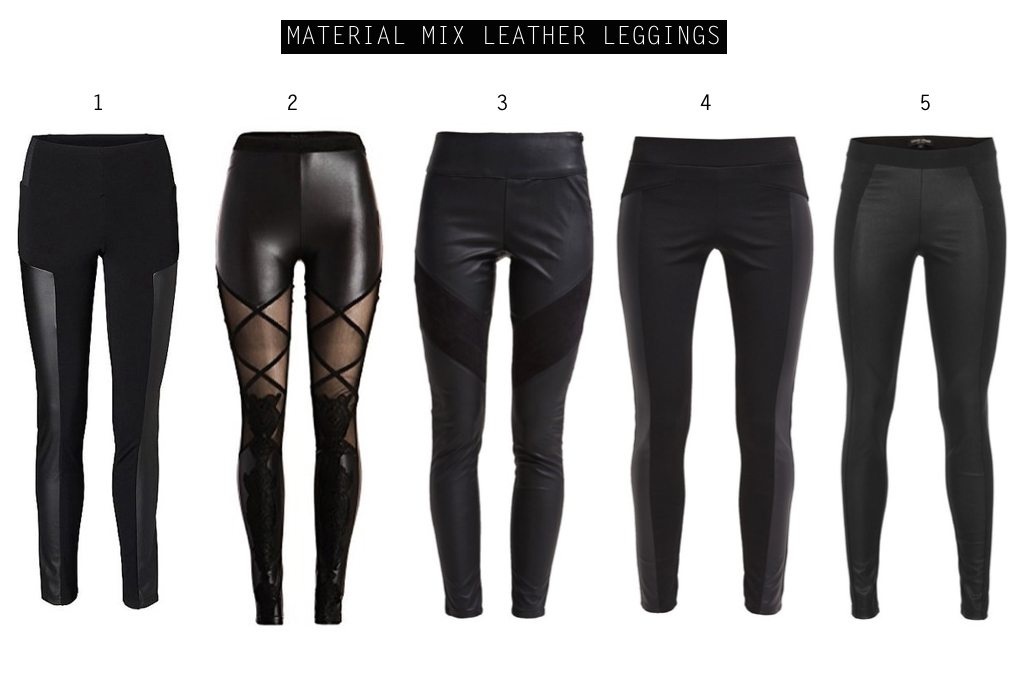 In love with... (faux) leather pants! Material Mix leather leggings by How I met my outfit