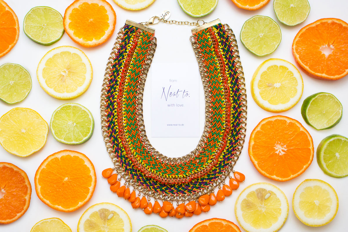 """Giveaway: Neat to. statement necklace """"MELIKA"""" II How I met my outfit"""