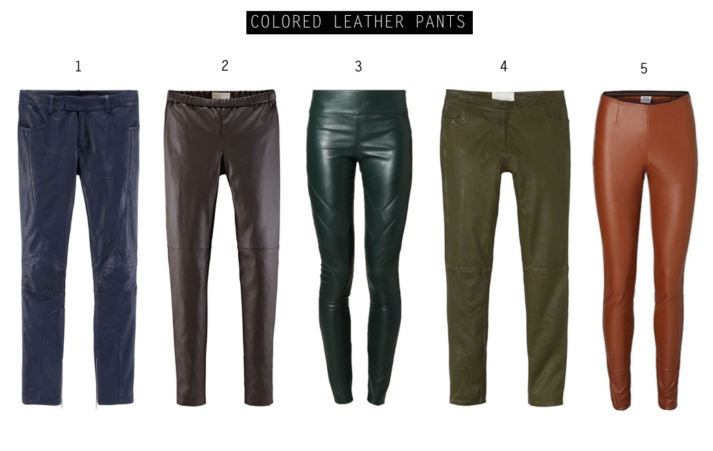 In love with... (faux) leather pants! colored leather pants by How I met my outfit
