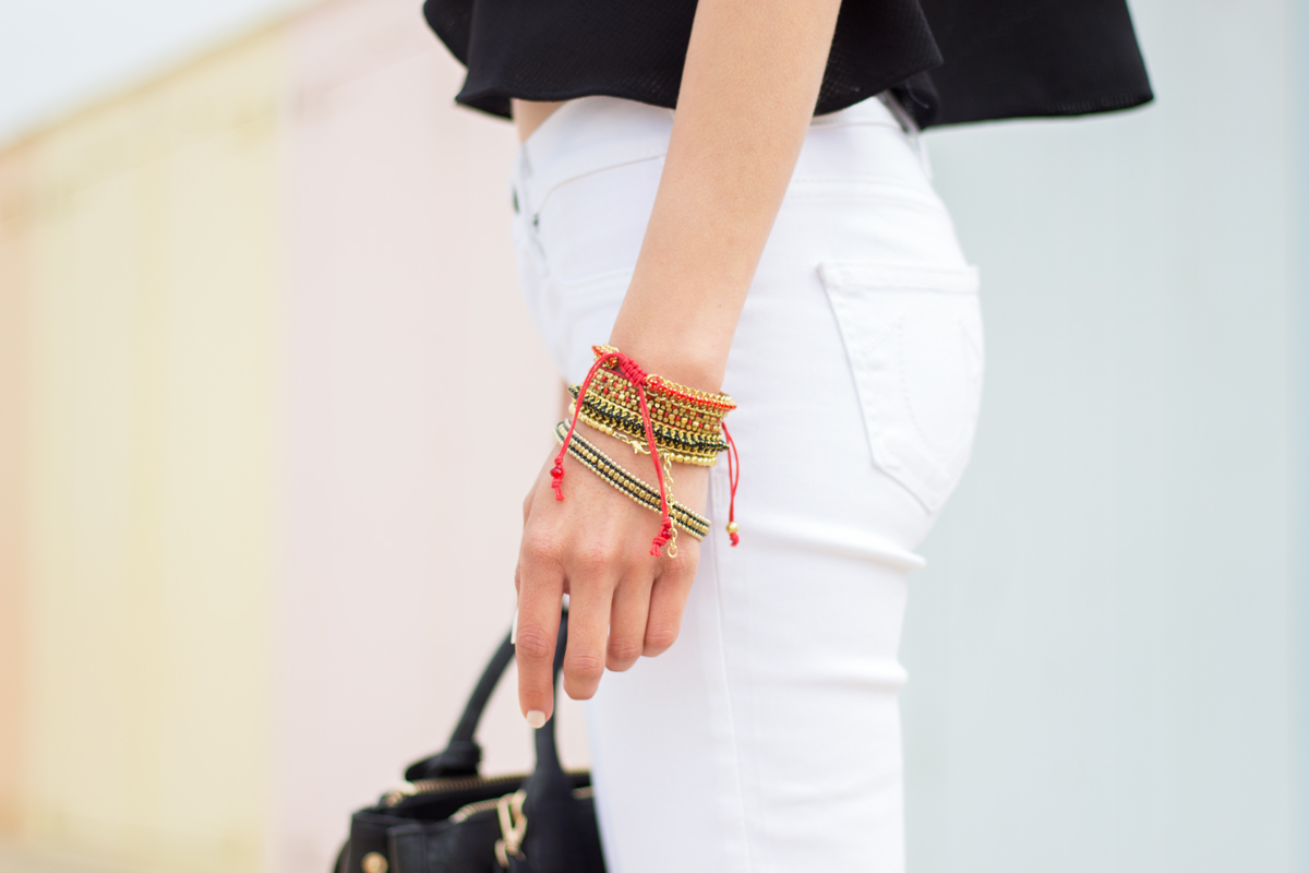 Summer Jeans Trend: White Flared Jeans