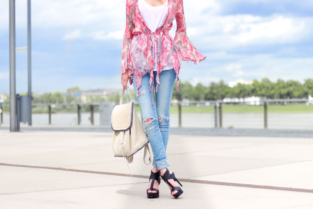 The printed bohemian blouse II How I met my outfit