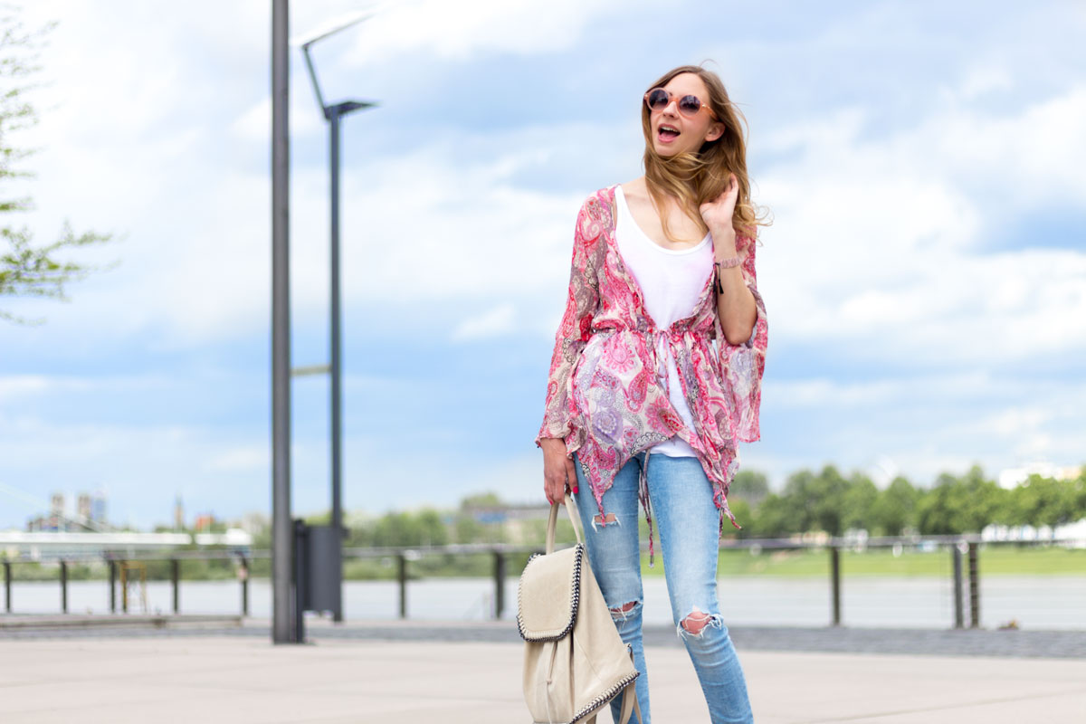 The printed bohemian blouse