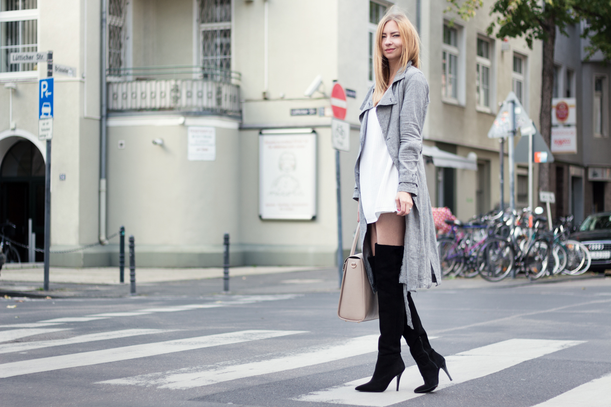 Over Knee Boots & Trench Coat