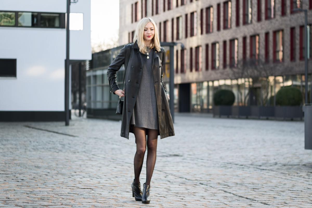 Leather Trench Coat II How I met my outfit by Dana Lohmüller