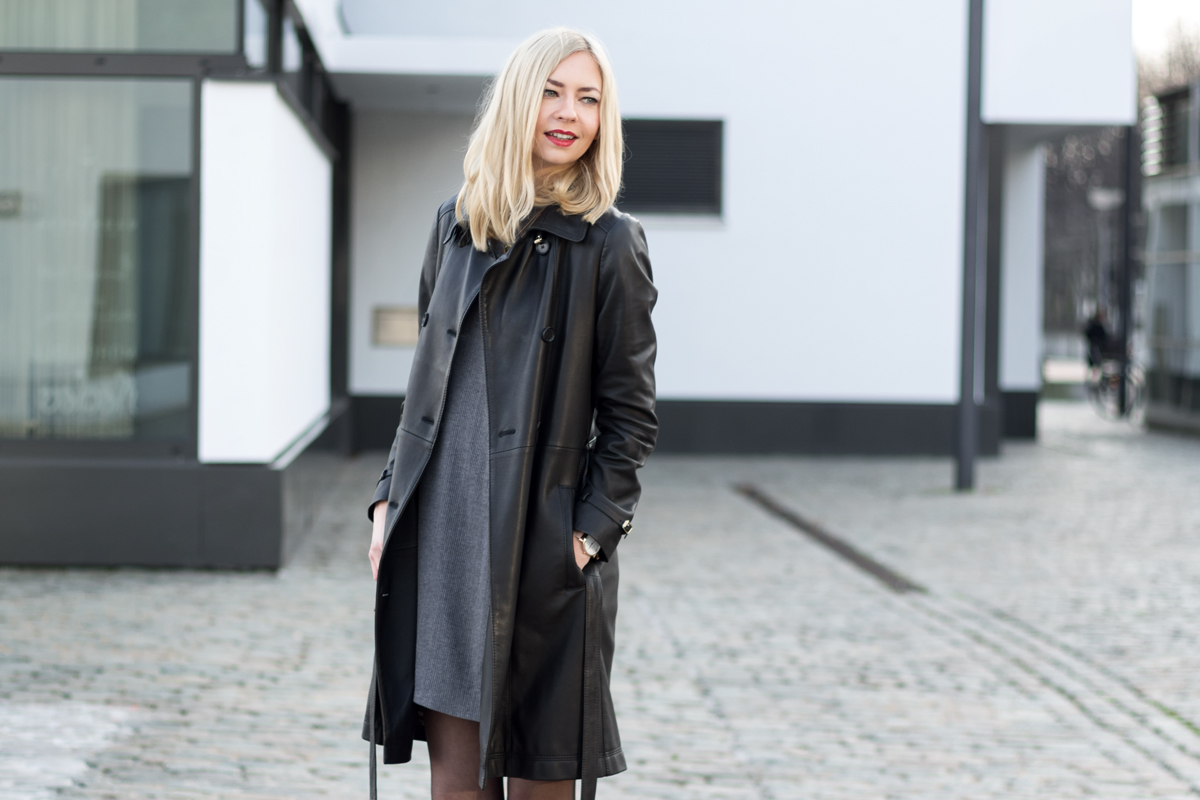 Leather Trench Coat II How I met my outfit by Dana Lohmüller II photos: Benedikt Napolowski