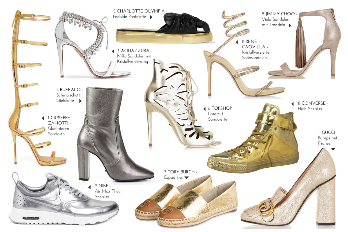 2016 Fashion Trends: Metallic Shoes II How I met my outfit by Dana Lohmüller