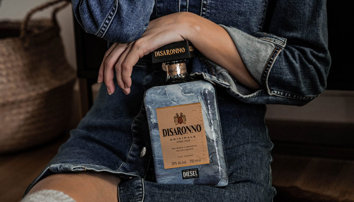 Disaronno wears Diesel Cocktail Amaretto Rezept