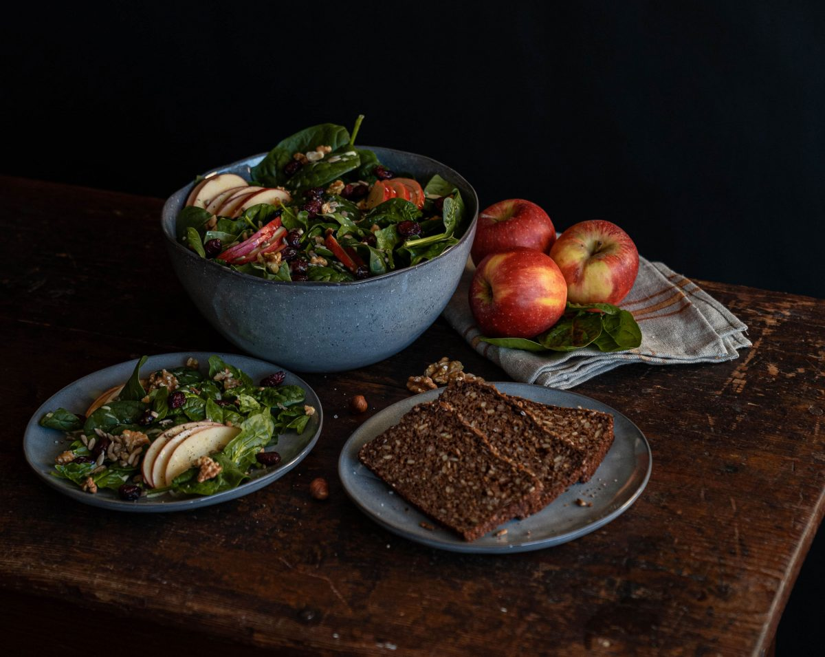 Schneller Spinat Apfel Salat | Rezept - How I met my outfit